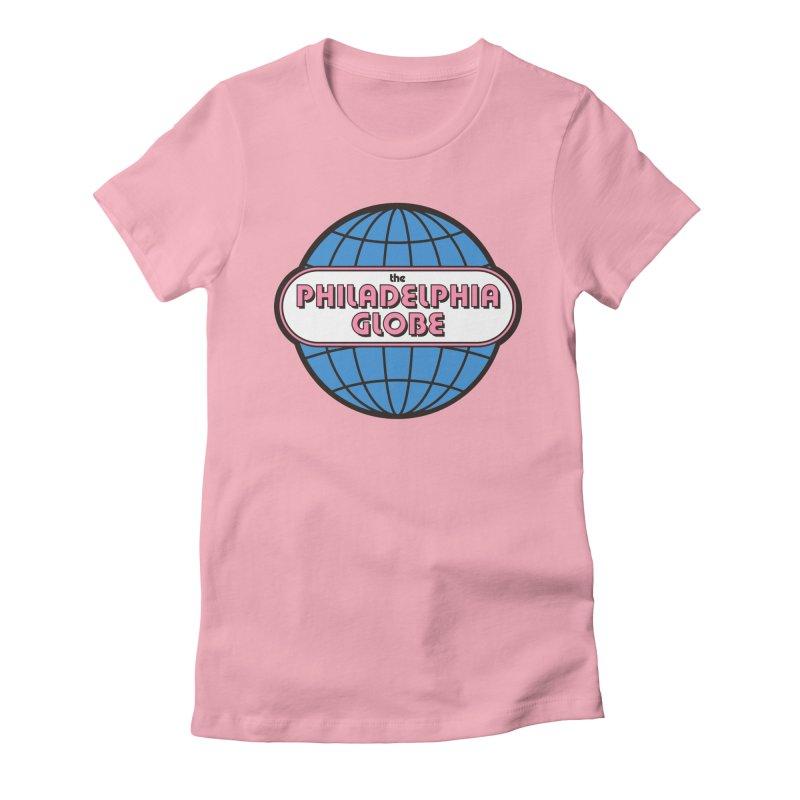 Phila Globe Women's Tops Women's T-Shirt by Phila Globe Merch Shop