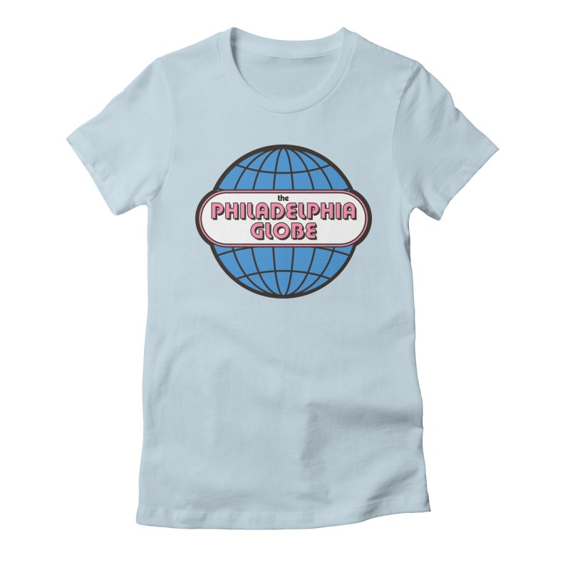 Phila Globe Women's Tops Women's T-Shirt by Phila Globe Merch Shop
