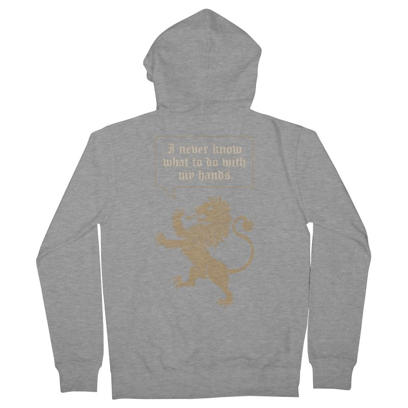 Lion Rampant Problems Women's French Terry Zip-Up Hoody by Phildesignart
