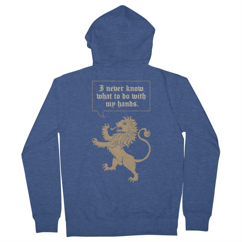 Lion Rampant Problems Men's Zip-Up Hoody by phildesignart's Artist Shop
