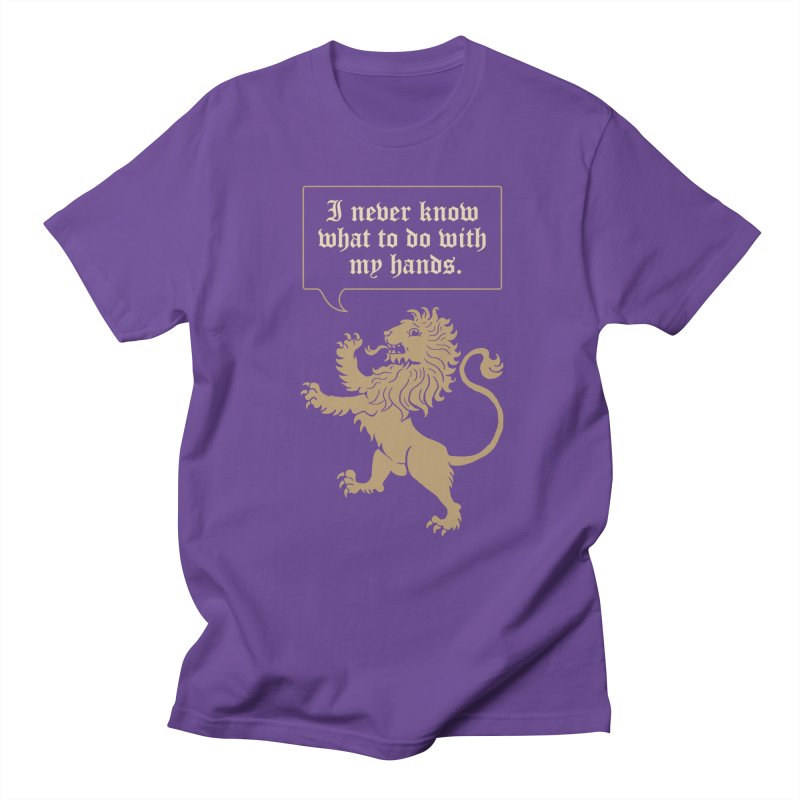 Lion Rampant Problems Men's T-Shirt by Phildesignart