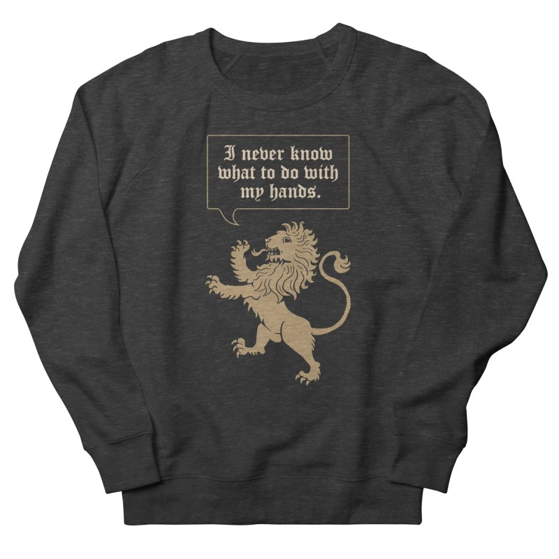 Lion Rampant Problems Men's French Terry Sweatshirt by Phildesignart