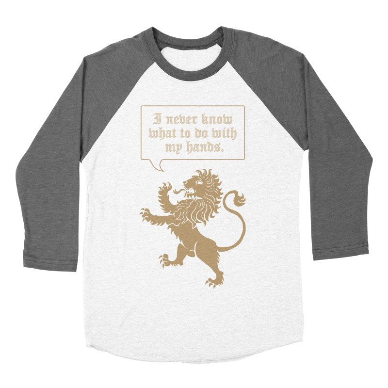 Lion Rampant Problems Women's Baseball Triblend Longsleeve T-Shirt by Phildesignart