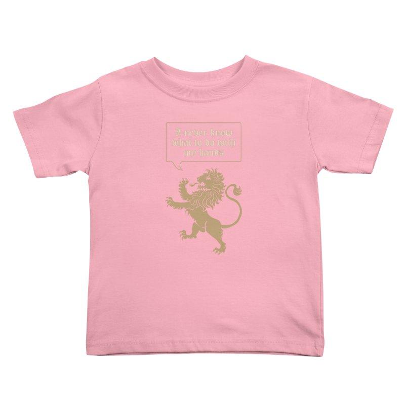 Lion Rampant Problems Kids Toddler T-Shirt by Phildesignart