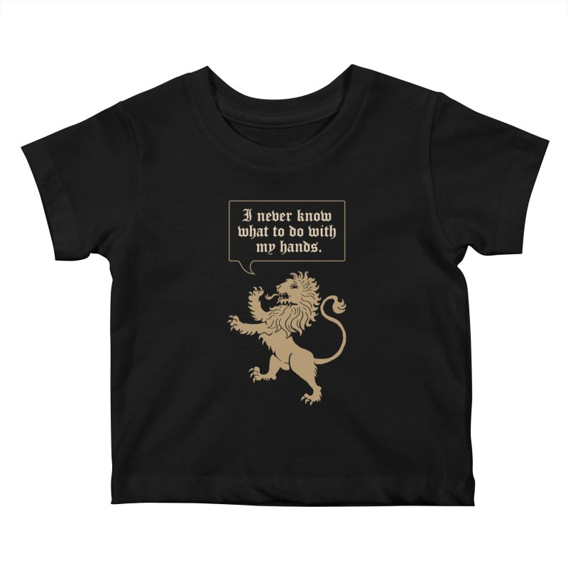 Lion Rampant Problems Kids Baby T-Shirt by Phildesignart