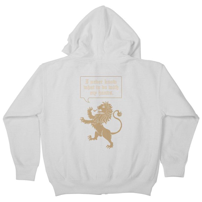 Lion Rampant Problems Kids Zip-Up Hoody by phildesignart's Artist Shop