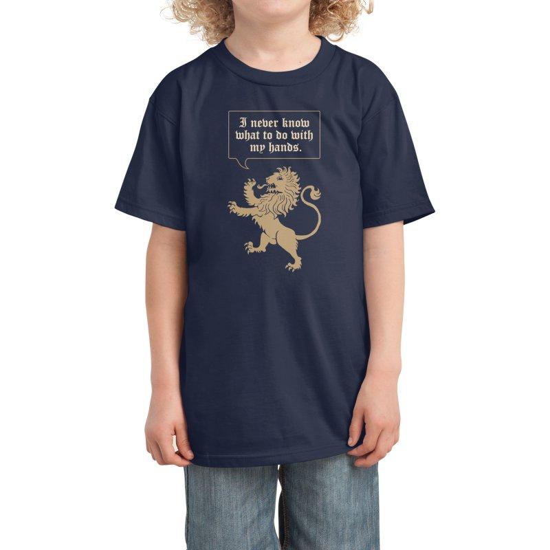 Lion Rampant Problems Kids T-Shirt by Phildesignart