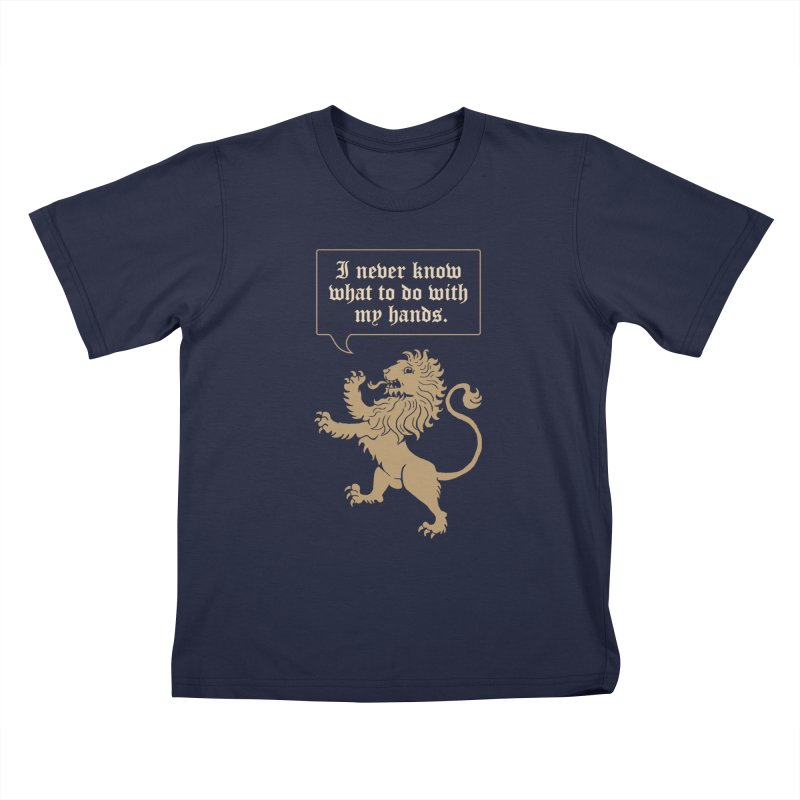 Lion Rampant Problems Kids T-Shirt by Phildesignart