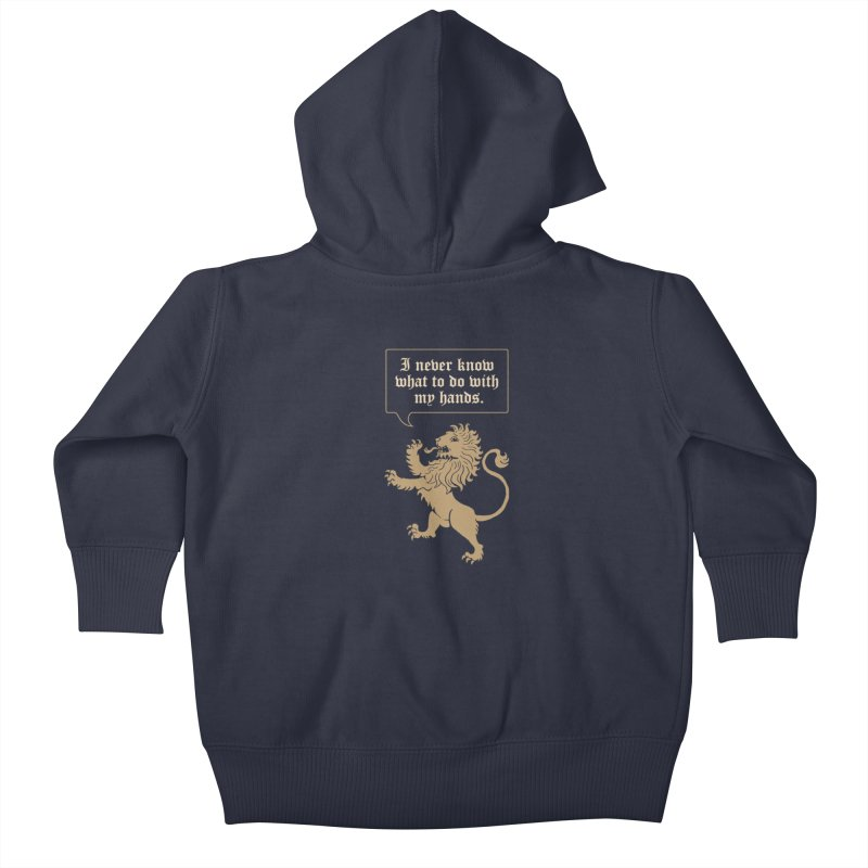 Lion Rampant Problems Kids Baby Zip-Up Hoody by Phildesignart