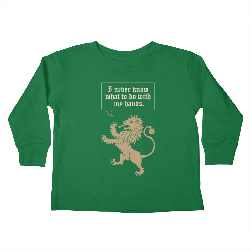 Lion Rampant Problems Kids Toddler Longsleeve T-Shirt by Phildesignart