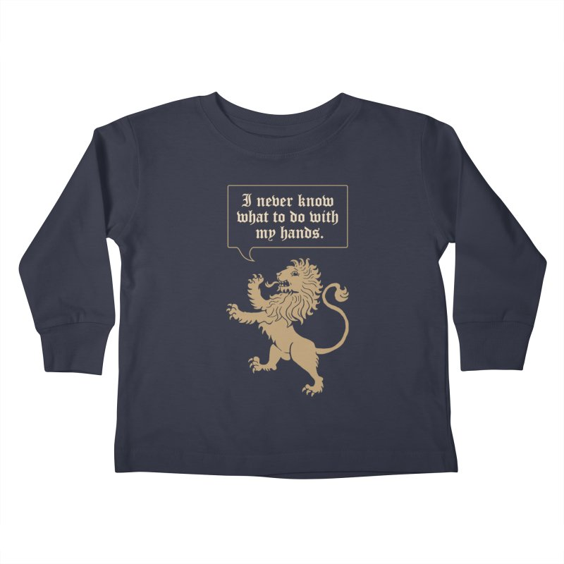 Lion Rampant Problems Kids Toddler Longsleeve T-Shirt by Phildesignart