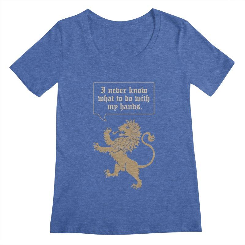 Lion Rampant Problems Women's Regular Scoop Neck by Phildesignart