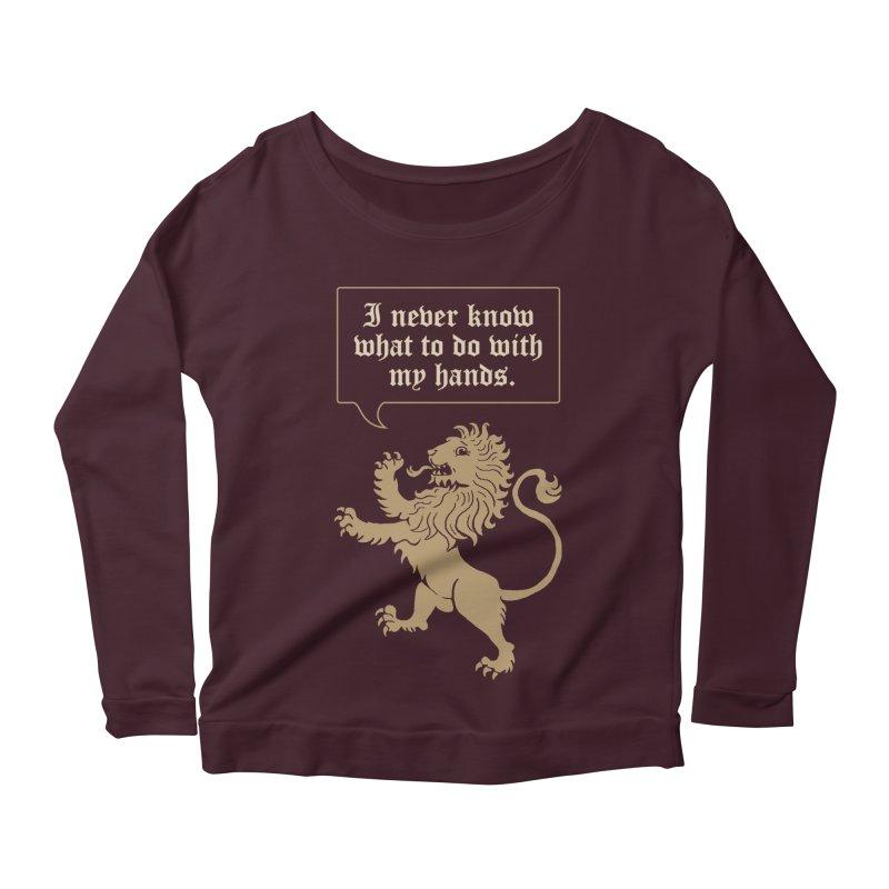 Lion Rampant Problems Women's Longsleeve Scoopneck  by Phildesignart