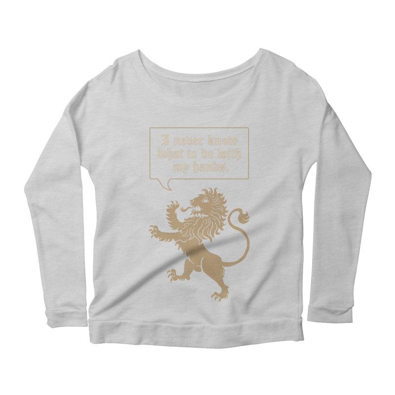 Lion Rampant Problems Women's Longsleeve Scoopneck  by phildesignart's Artist Shop