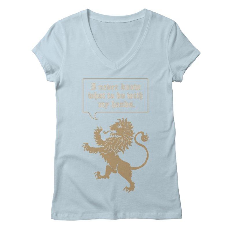 Lion Rampant Problems Women's V-Neck by phildesignart's Artist Shop