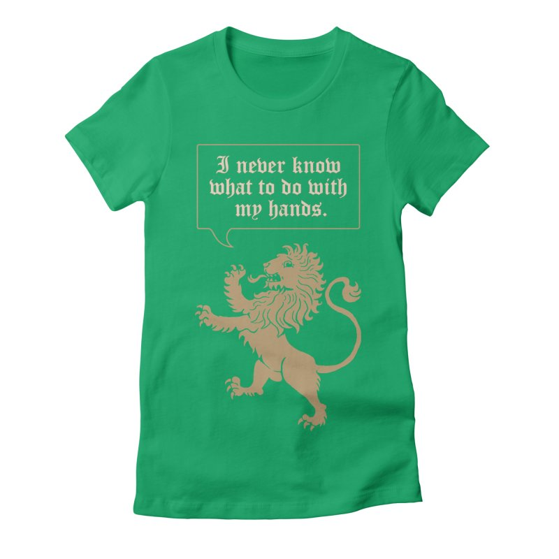 Lion Rampant Problems Women's Fitted T-Shirt by phildesignart's Artist Shop