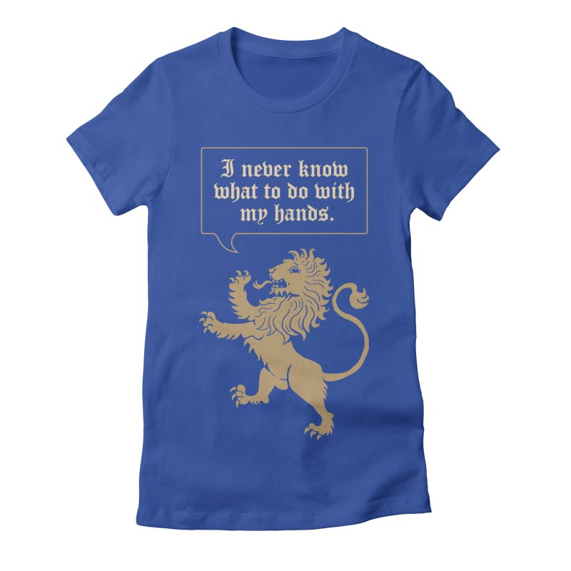 Lion Rampant Problems Women's Fitted T-Shirt by Phildesignart