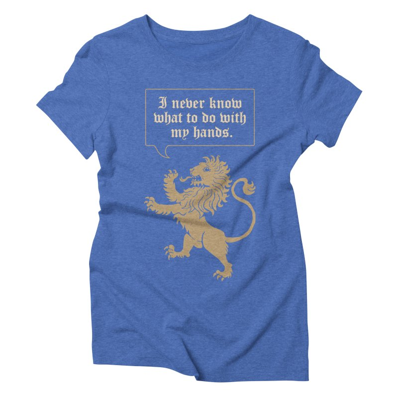 Lion Rampant Problems Women's Triblend T-shirt by phildesignart's Artist Shop