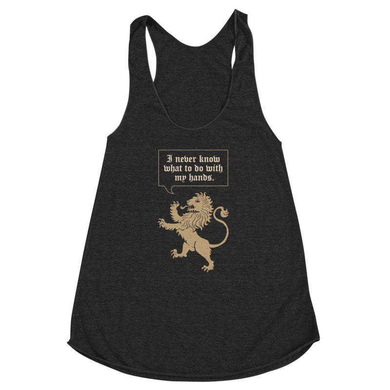 Lion Rampant Problems Women's Racerback Triblend Tank by Phildesignart