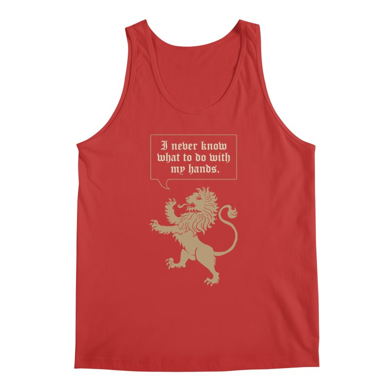 Lion Rampant Problems Men's Regular Tank by Phildesignart