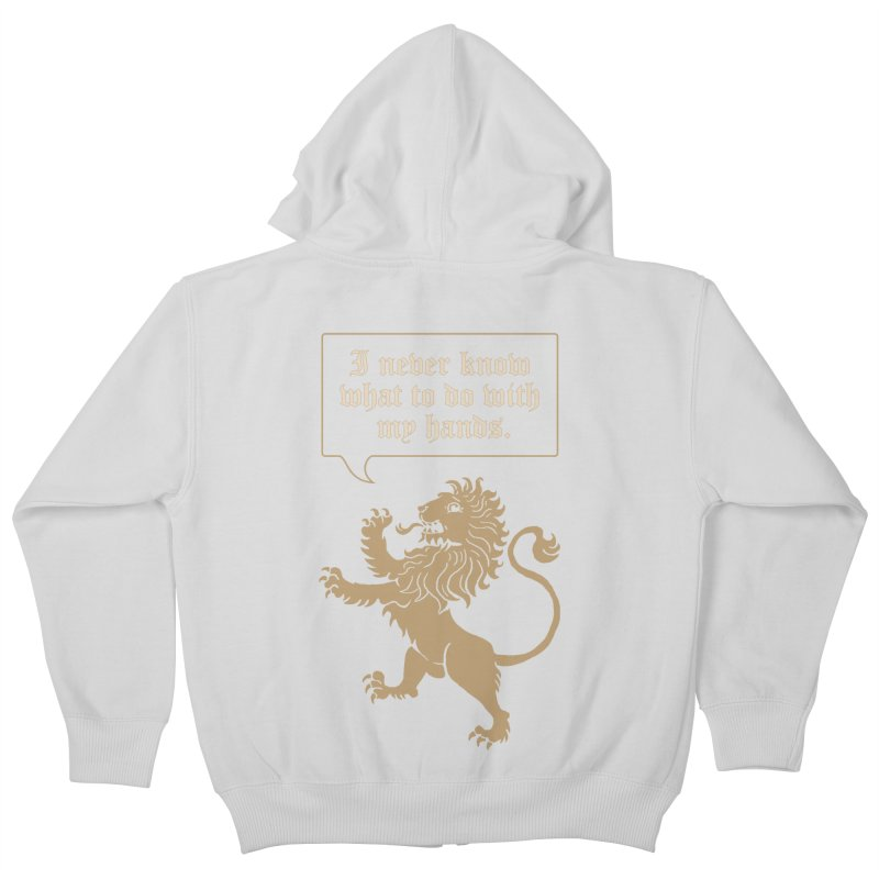 Lion Rampant Problems Kids Zip-Up Hoody by phildesignart's Artist Shop