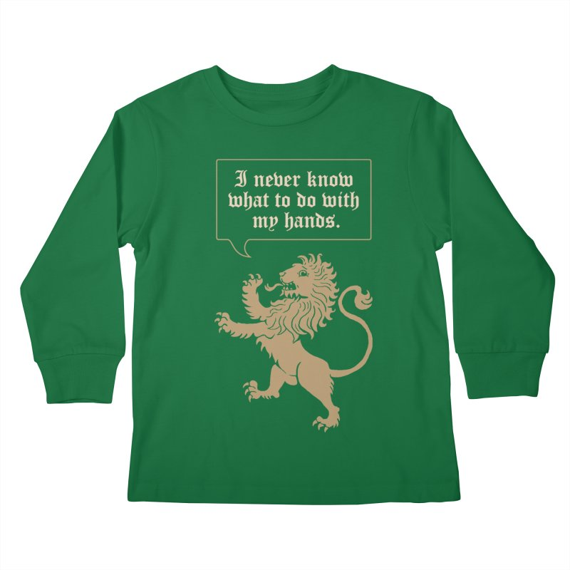 Lion Rampant Problems Kids Longsleeve T-Shirt by phildesignart's Artist Shop
