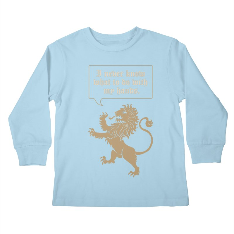 Lion Rampant Problems Kids Longsleeve T-Shirt by Phildesignart