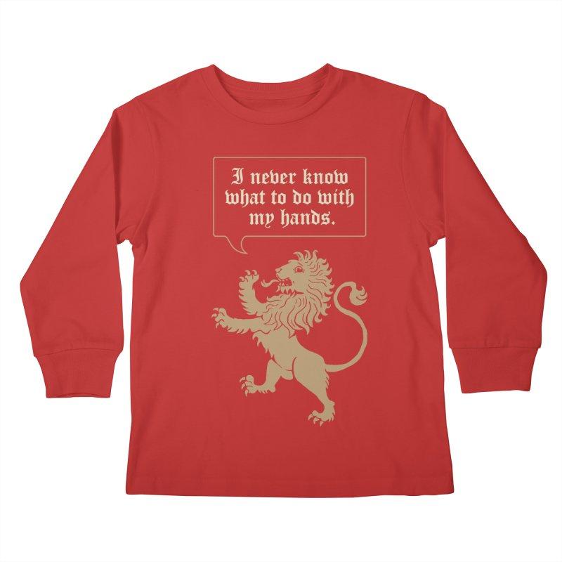Lion Rampant Problems Kids Longsleeve T-Shirt by Phildesignart