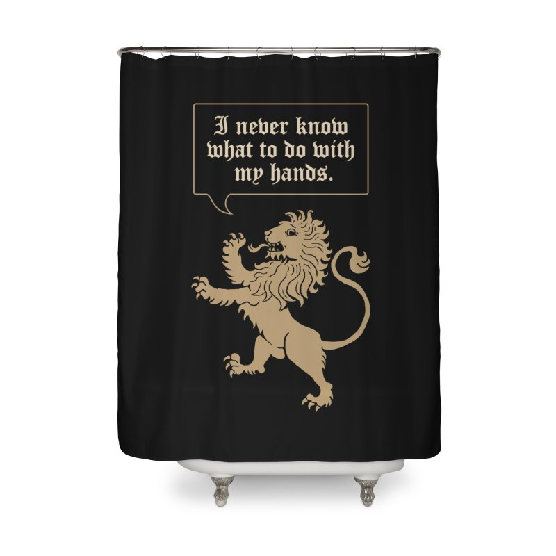 Lion Rampant Problems Home Shower Curtain by Phildesignart