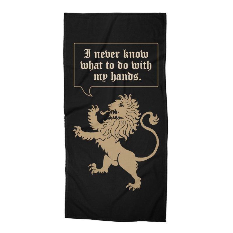 Lion Rampant Problems Accessories Beach Towel by Phildesignart