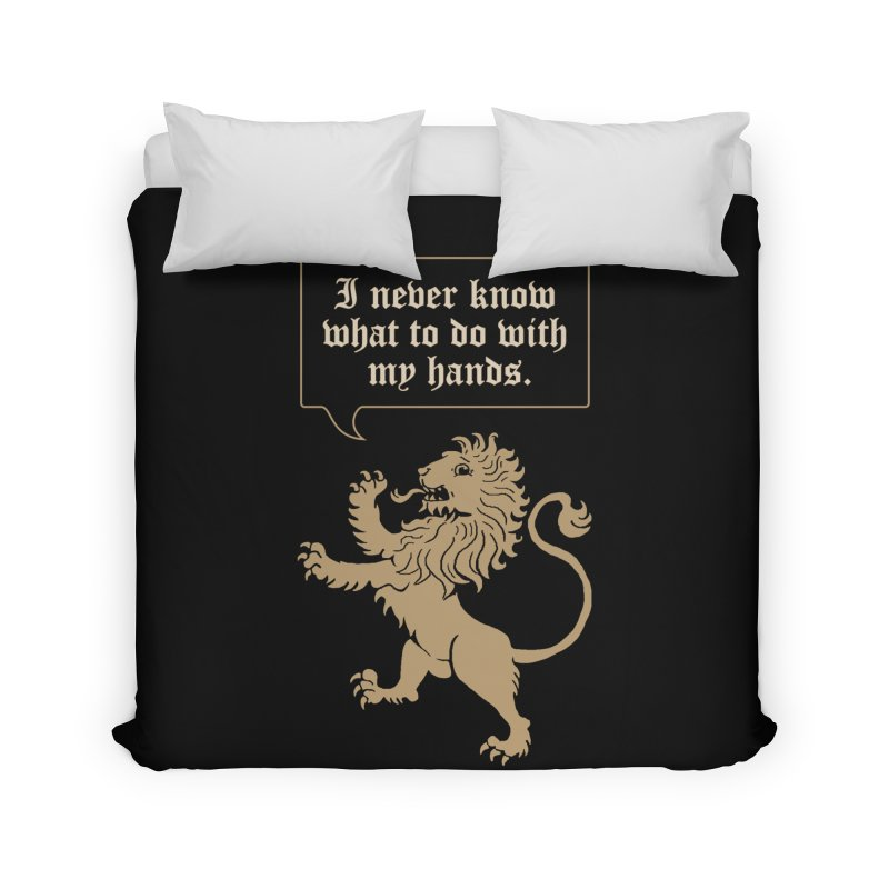 Lion Rampant Problems Home Duvet by Phildesignart