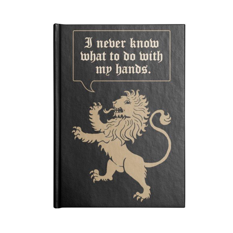 Lion Rampant Problems Accessories Notebook by Phildesignart