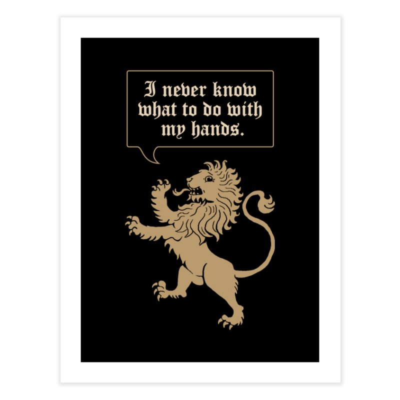 Lion Rampant Problems Home Fine Art Print by Phildesignart