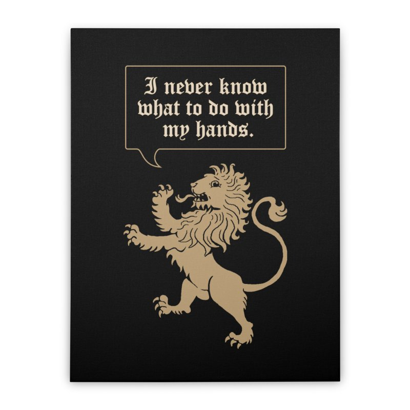 Lion Rampant Problems Home Stretched Canvas by phildesignart's Artist Shop