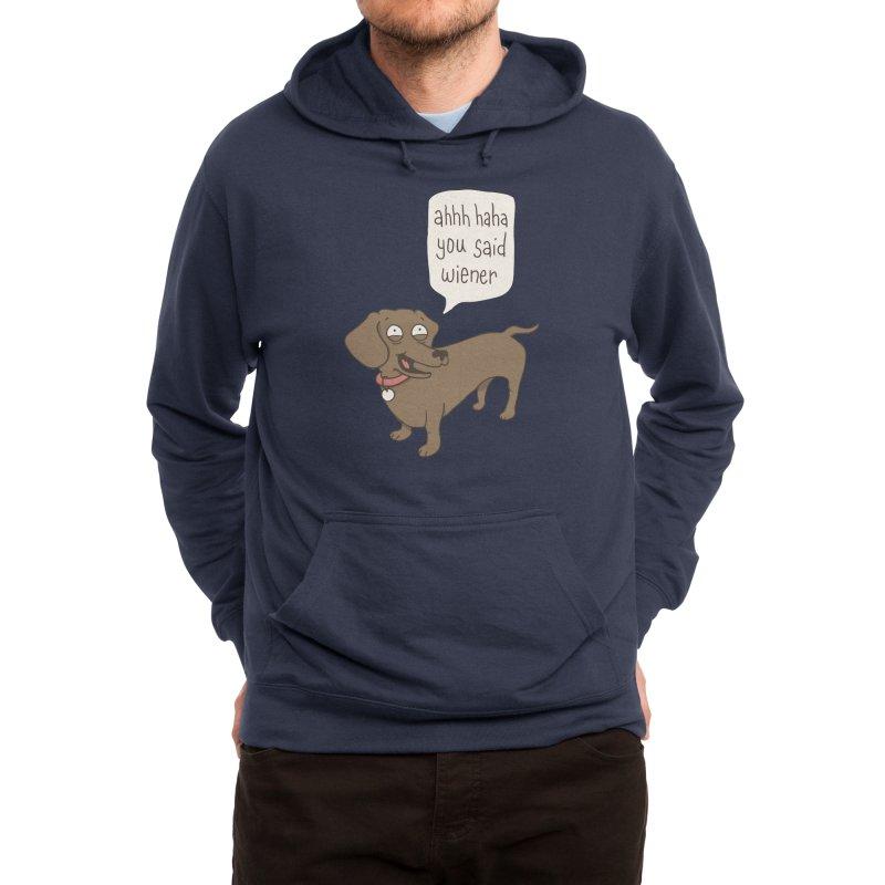 Immature Dachshund Men's Pullover Hoody by Phildesignart