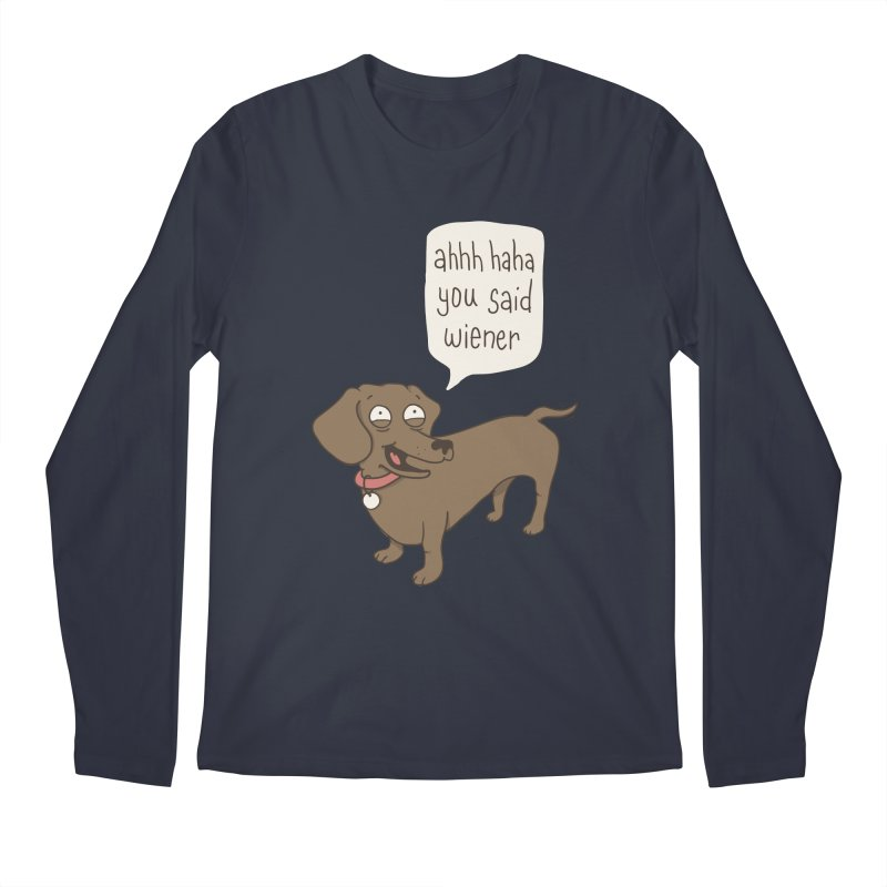 Immature Dachshund Men's Longsleeve T-Shirt by Phildesignart