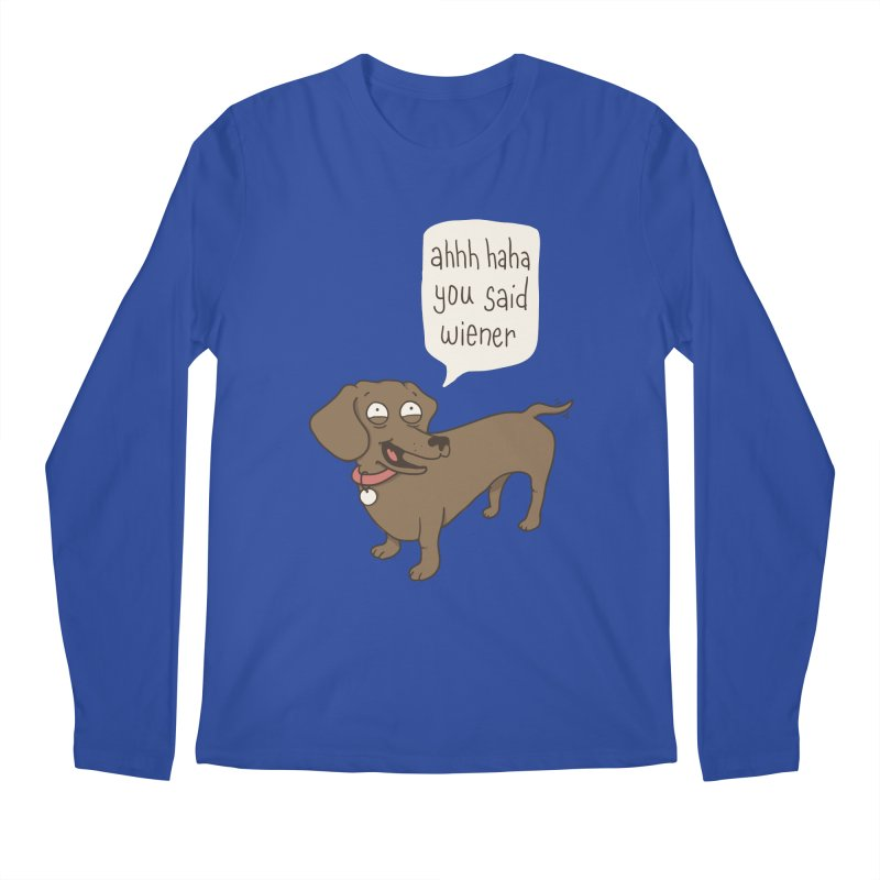 Immature Dachshund Men's Regular Longsleeve T-Shirt by Phildesignart
