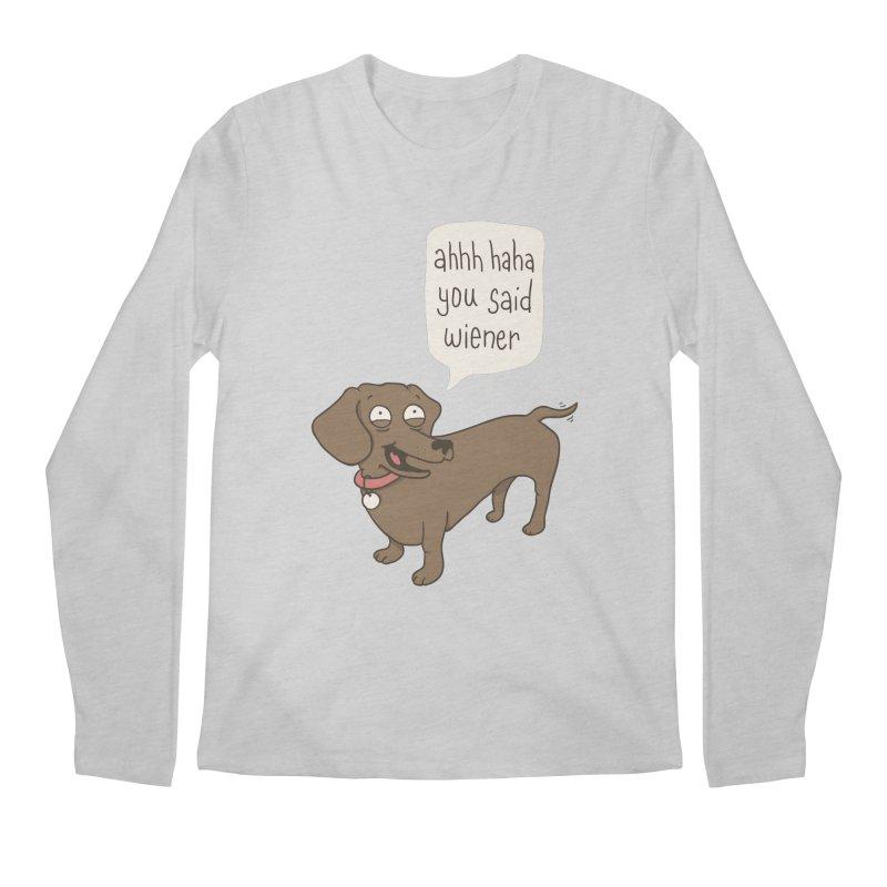 Immature Dachshund Men's Longsleeve T-Shirt by phildesignart's Artist Shop