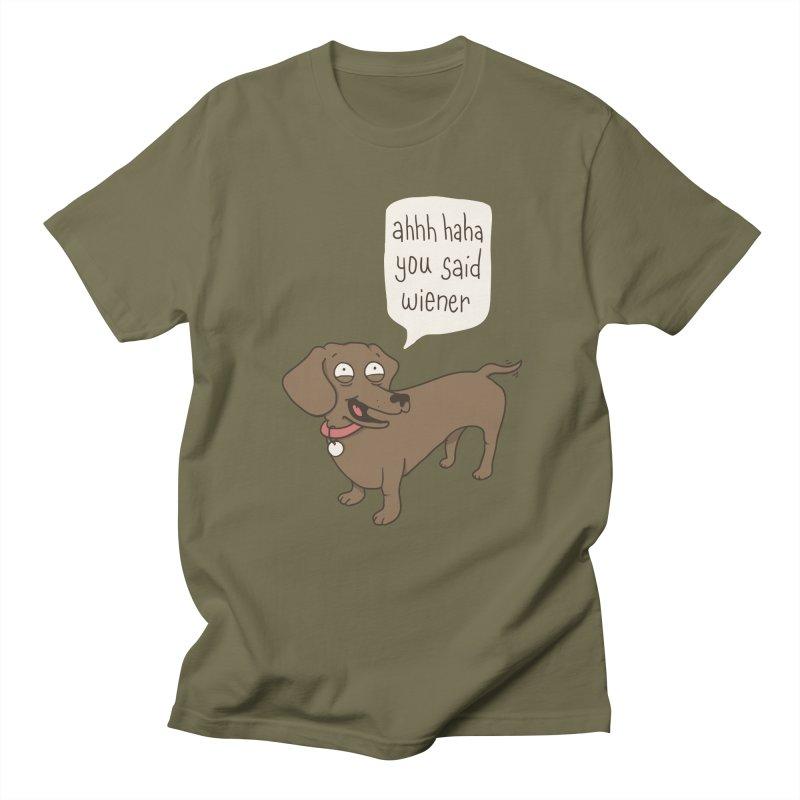 Immature Dachshund Men's T-Shirt by Phildesignart