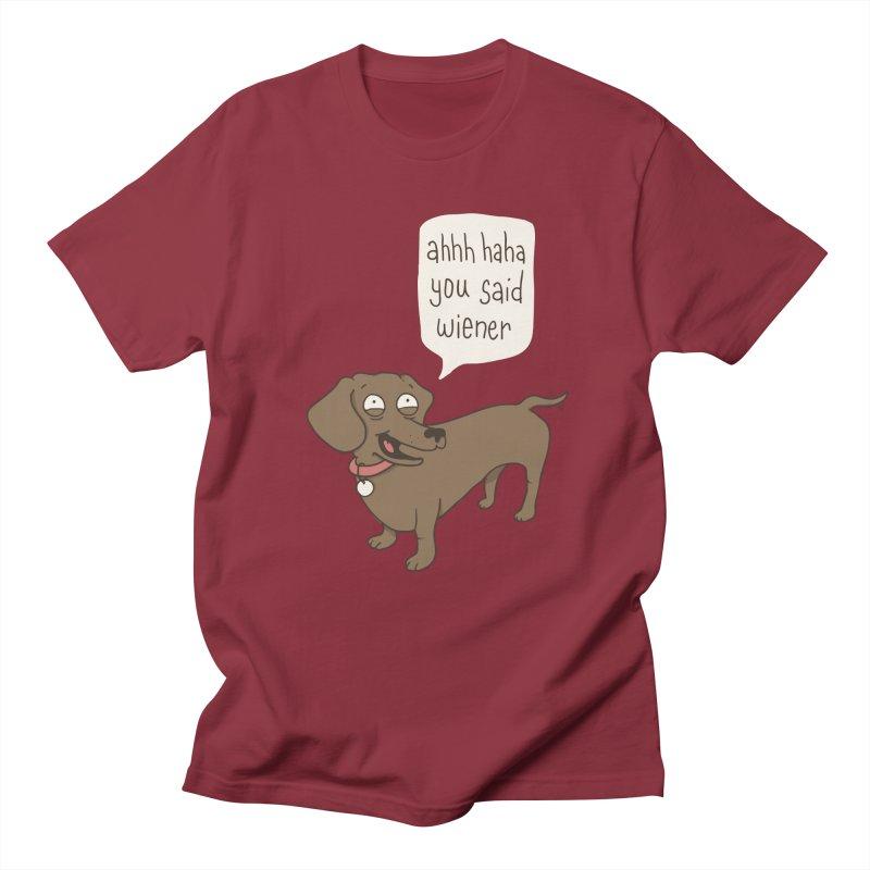 Immature Dachshund Men's T-shirt by phildesignart's Artist Shop