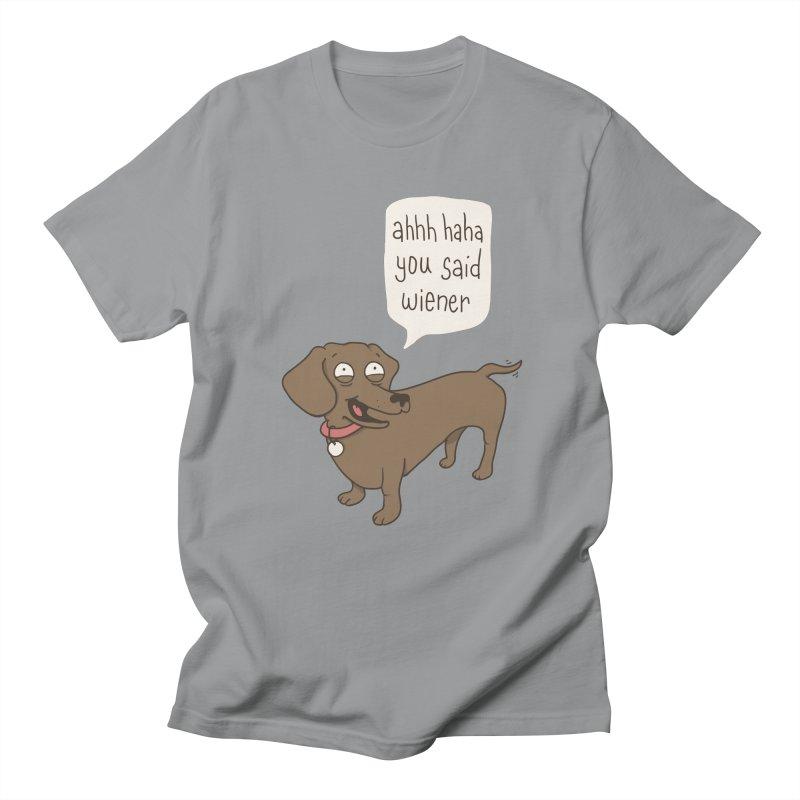 Immature Dachshund Men's Regular T-Shirt by Phildesignart