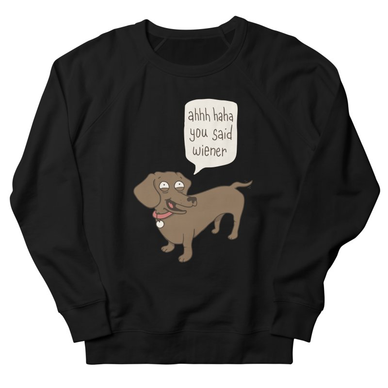 Immature Dachshund Men's French Terry Sweatshirt by Phildesignart