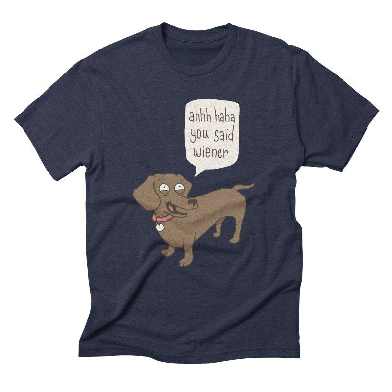 Immature Dachshund Men's Triblend T-Shirt by Phildesignart
