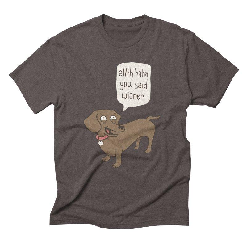 Immature Dachshund Men's Triblend T-shirt by phildesignart's Artist Shop