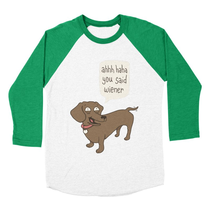 Immature Dachshund Women's Baseball Triblend T-Shirt by Phildesignart