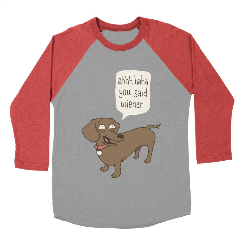 Immature Dachshund Women's Baseball Triblend T-Shirt by Phildesignart