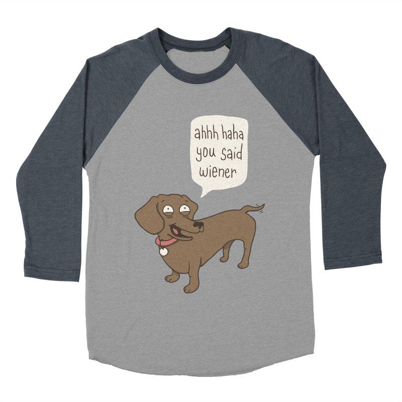 Immature Dachshund Women's Baseball Triblend Longsleeve T-Shirt by Phildesignart