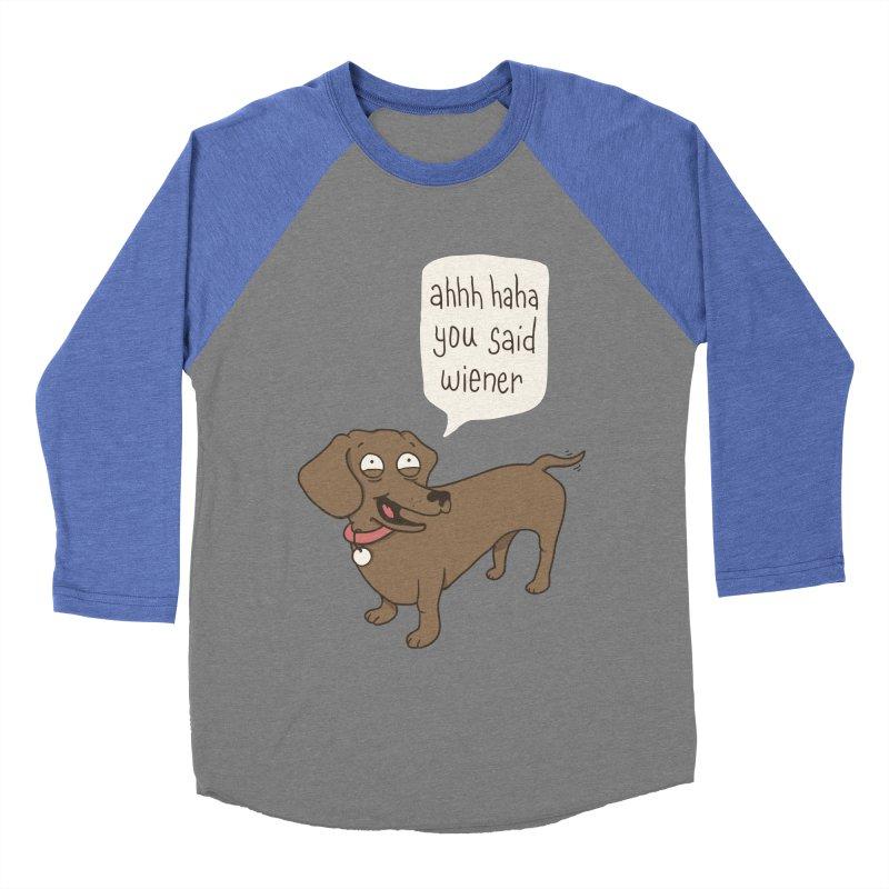 Immature Dachshund Men's Baseball Triblend T-Shirt by Phildesignart