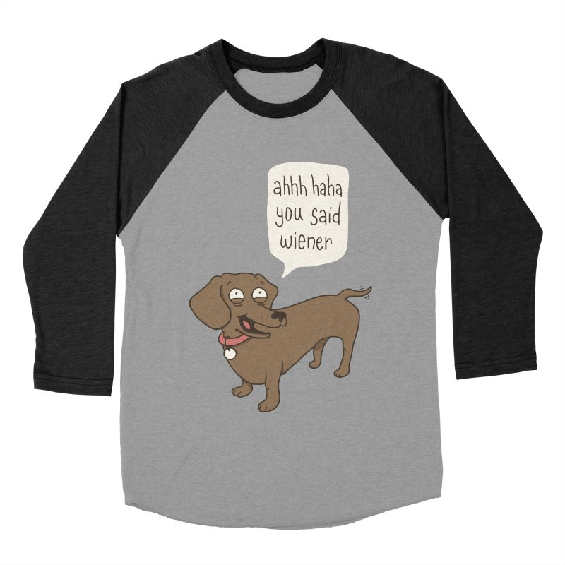 Immature Dachshund Men's Baseball Triblend Longsleeve T-Shirt by Phildesignart