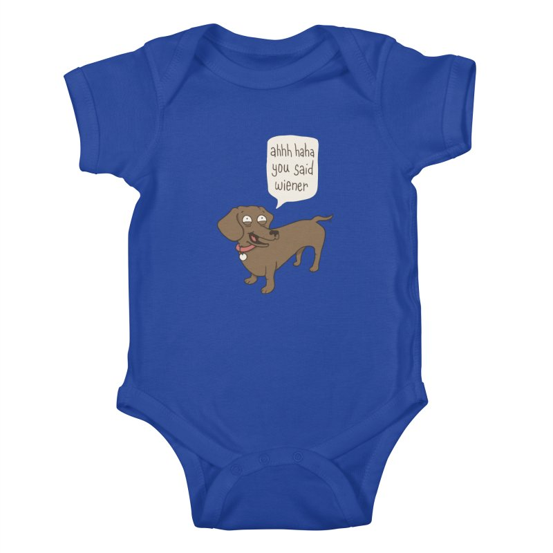 Immature Dachshund Kids Baby Bodysuit by phildesignart's Artist Shop
